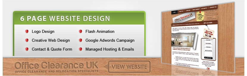 6-page-web-design-office-clearance-uk